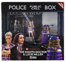 More details for doctor who 8th doctor lucie miller dalek time controller figurine set eaglemoss