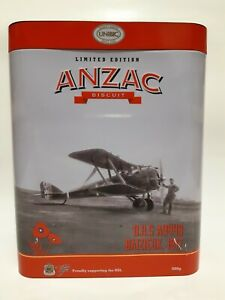 """2017 Limited edition collectable ANZAC biscuit tin """"D.H.5 A9449 Baizieux 1917"""""""