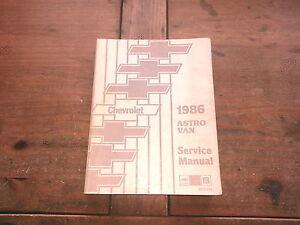 1986 Astro Van Chevy Truck Chevrolet ST37286 GM Shop Service Manual