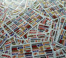 10 Mixed Sheets Random Stickers Motorcycle Car ATV Racing Dirt Bike Helmet Decal