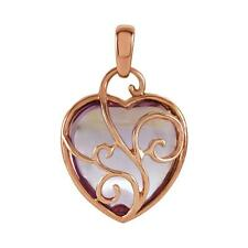 14k Rose Gold Rose de France Amethyst Pendant