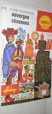 CARTO GUIDA SHELL N 10 AUVERGNE CEVENNES FRANCE 1966 67 Dimensioni 67x46 cm di e