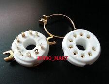 2pcs 9pin Gold Plated Audio Vacuum Valve Tube socket for Pl504 El519 6P12P