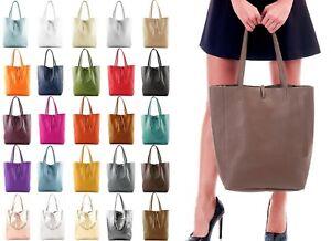 Handbag Bliss Light Weight Soft Italian Leather Large Shopper Shoulder Handbag
