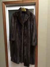 Brown Womans Mink Winter Coat