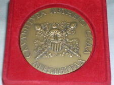 Antique Vintage  Bronze Russian Medallion Medal