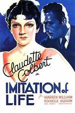 IMITATION OF LIFE DVD 1934 Drama/Romance Claudette Colbert Warren William