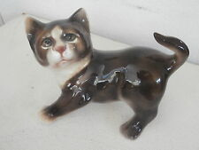 Cat ceramic figurine European statuina gatto europeo ceramica 14 cm