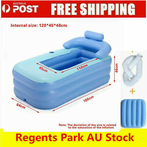 NEW ADULT INFLATABLE BATH TUB PORTABLE CAMPING BLOW UP BLOWUP WARM BATHTUB IN AU