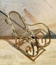 "Vintage Brass Rocking Chair Dollhouse Doll House Miniatures 2 3/8"" - Swanky Barn"