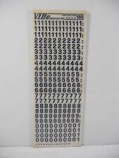 10 FOGLI TRASFERELLI TRASFERIBILI VIBO LINEA TONDO NERO 166  MM 7,5 NUMERI
