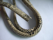 1 Metre 10*5.5mm Snake Skin(Beige) Licorice Leather Cord