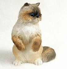 Ragdoll Himalayan Cat Figurine Statue Hand Painted Resin Gift