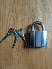 Abloy 340 hardened padlock 3 keys, Motorbike Bike Cycle Padlock High Security