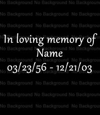"In Loving Memory of Memorial Car Window Decal Sticker 3.5""x8"""