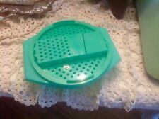 VINTAGE JADITE GREEN TUPPERWARE GRATER BOWL~CHEESE, MEATS,VEGGIES 786-9 EUC