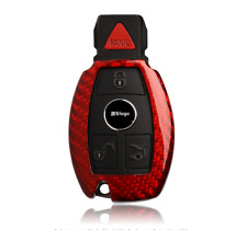 Red Real Carbon Fiber Remote Key Cover Case Shell for Mercedes Benz A C GLE 200