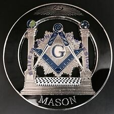 Master Mason Cut out Car  Emblem  Pillars black Silver.
