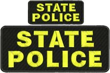 "state police embroidery patches 4 X 10"" and 2x5 hook  ON BACK"