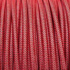 NERO & Rosso Rotondo Intrecciato Tessuto Cavo MEX 0.5 mm per illuminazione (Cavo TEXTIL)
