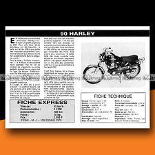 ★ HARLEY-DAVIDSON X 90 (X90) ★ 1976 Essai Moto / Original Road Test #c58