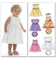 McCall's 6015 Sewing Pattern to MAKE Toddler Dress Pants Headband (6-18 mths)
