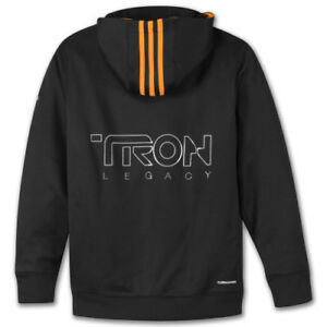 RARE Adidas TRON LEGACY HOODY wars Sweat Shirt star Top Pullover~YOUTHs Size Lrg