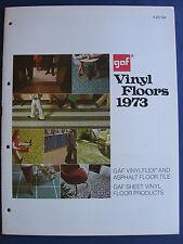 GAF ASBESTOS FLOORING SHEET VINYL & Floor TILE 1973 Catalog