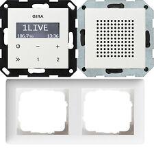 Gira Unterputz Radio RDS mit Lautsprecher und Rahmen Cremeweiss LCD UKW 228401