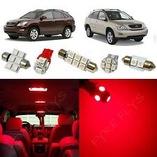 15x Red LED lights interior package kit for 2003-2009 Lexus RX LR2R