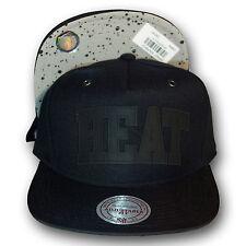 Original Mitchell & Ness Miami Heat Snapback Cap Cement NBA schwarz
