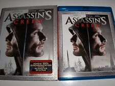 Assassins Creed Blu-ray,Case and Slipcover Only LIKE NEW! NO DIGI CODES!*