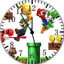 "Super Mario Games wall Clock 10"" will be nice Gift and Room wall Decor W376"