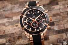 Men's Joshua & Sons JS98 Quartz Multi-Function Date Two Tone Bracelet Watch