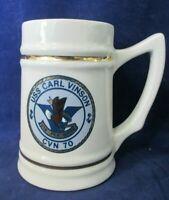 USS Carl Vinson Vis Per Mare CVN 70 Vintage Lewis Bros Tankard Mug Gently Used