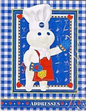 NIP 2003  Pillsbury Doughboy Poppin Fresh Address/Phone Book - FREE SHIPPING!