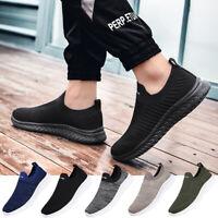 Men's Sneakers Casual Lightweight Walking Slip On Athletic Tennis Running Shoes