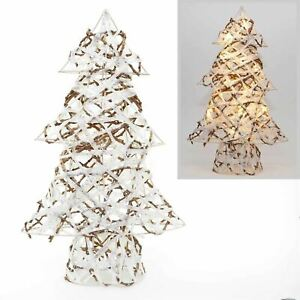 """60cm LED Light Up Christmas Tree Wire Frame Xmas Home Decorations Warm White 24"""""""