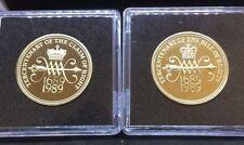 £ 2 LB (ca. 0.91 kg) Coin Rivendicazione/BILL of RIGHTS FIOR DI CONIO