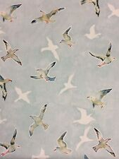Prestigious Textiles Seagulls Sky Fabric Remnant 100% Cotton 50cm x 40cm