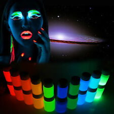 10x Glow in The Dark Body Face Paint Kit Art Makeup Painting Pigment Fancy Party