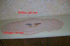 Decke+ kl. Deckchen; 76 x 36 cm - mit Mittelmotiv; Handarbeit, auch als Geschenk