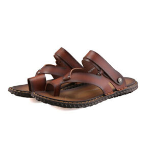 Chic Mens Clip Toe Leisure Thong Straps Summer Outdoor Slip On Beach Slippers