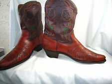 Rare!! 1940's Vintage ACME Pee Wee Shorty Inlay Cowboy Boots !! men's 11.5 D