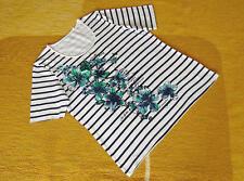 CANDA - Damen Shirt Frontaufdruck Glitzer weiß - Gr. M >> TOP Zustand !!!