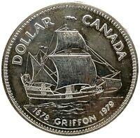Canada $1 Dollar 1979 Proof Like silver KM#124 Specimen Griffon Ship.