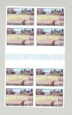 Montserrat #640 Golf 2v Imperf Gutter Blocks of 4