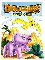 Dinosaurs Coloring & Activity Book for Kids #2 Dot to Dot Maze Tic Tac Toe