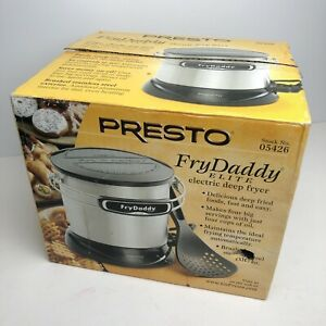 NEW IN BOX PRESTO FRYDADDY 05426 DEEP FRYER STAINLESS 21-700 4 CUP OIL CAPACITY