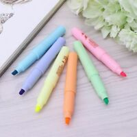 6 pcs/set Children Stationery Candy Color Fluorescent Marker Pens Highlighter